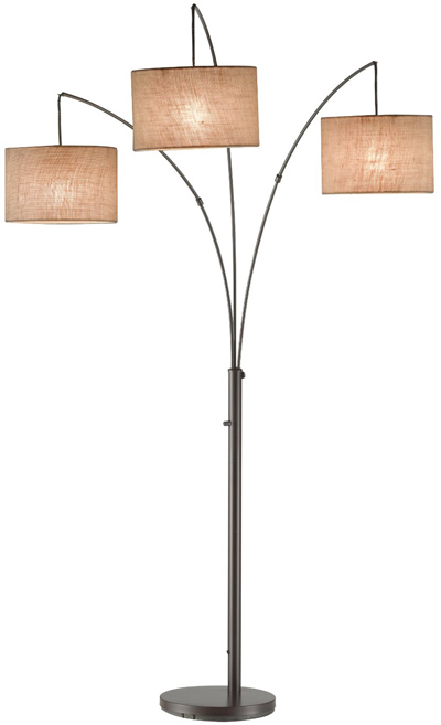 Adesso Trinity Arc Lamp, Antique Bronze 4238-26